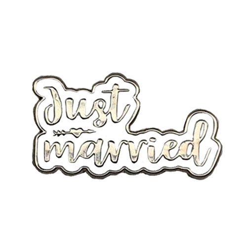 I Do Fancy White Flip-Flops with Silver Just Married Charm Wedding