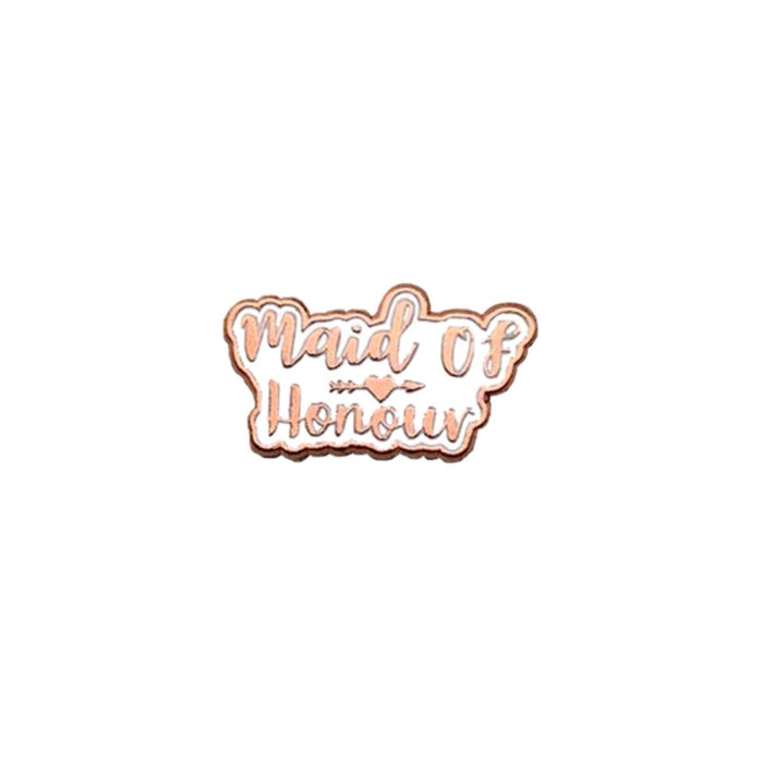 Maid of Honour Rose Gold Wedding Charm