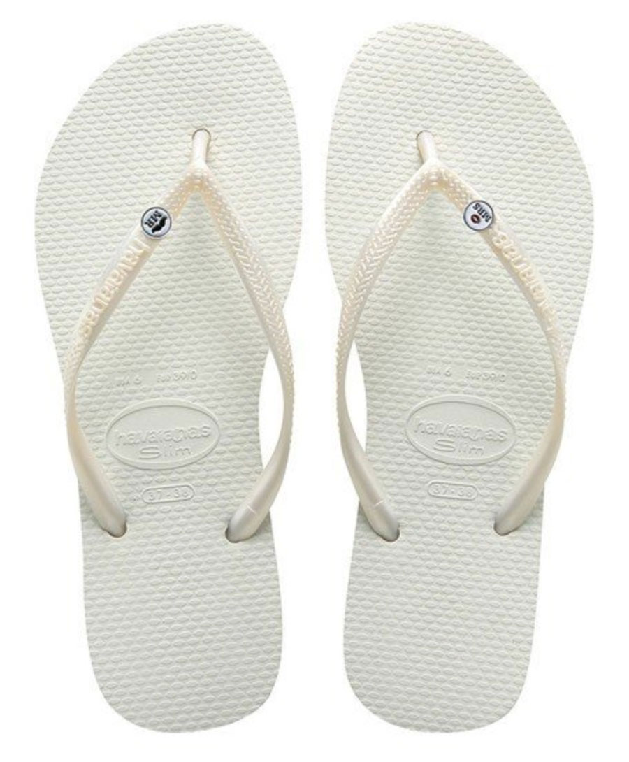 Mr & Mrs Havaianas Wedding Flip-Flop Sandals