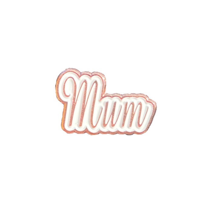 Mum rose gold charm