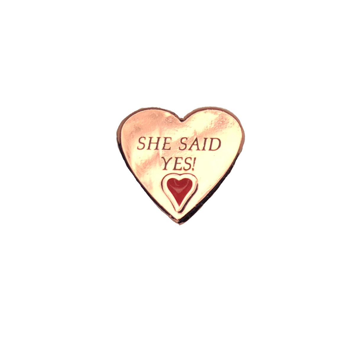 Rose Heart Personalised Wedding Charm