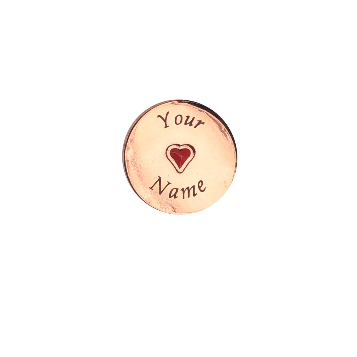 Rose Gold Round Engrave Personalised Charm