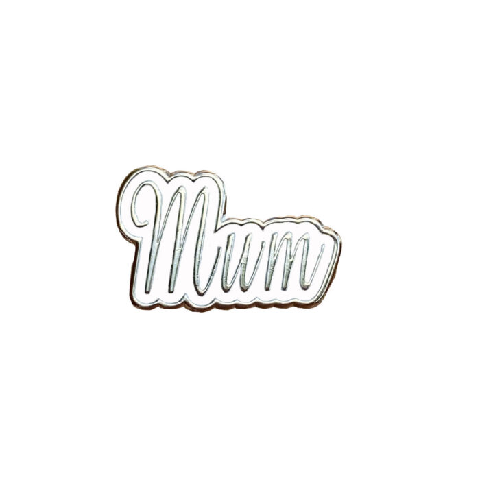 silver mum charm